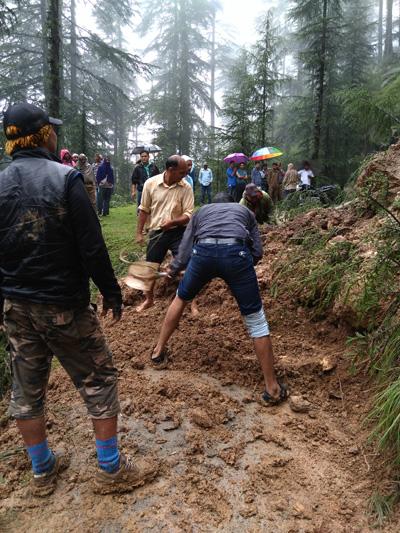 clearing landslide